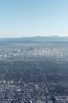Los Angeles downtown from a distance
