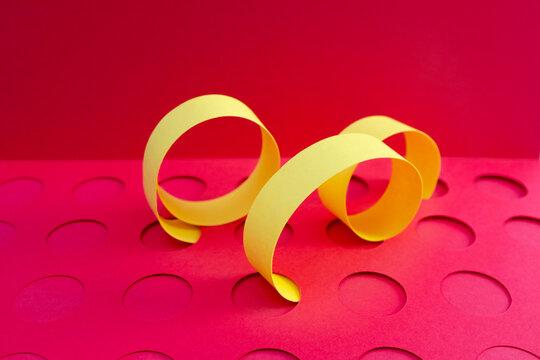 Yellow Paper Curls Still Life