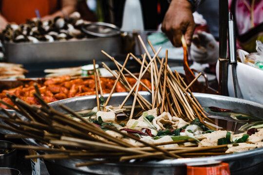 Skewered Meats, Street Food, Seoul, South Korea