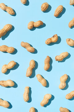 Vegetarian pattern from organic groundnuts.