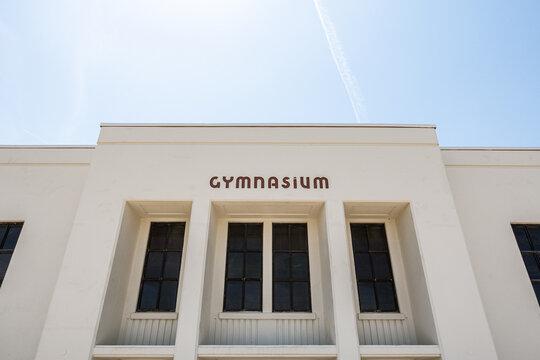 A mid shot of a gymnasium