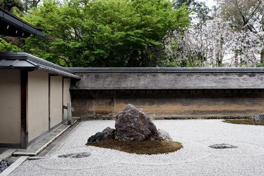 Japanese Rock Garden at Zen temple Ryoan-ji