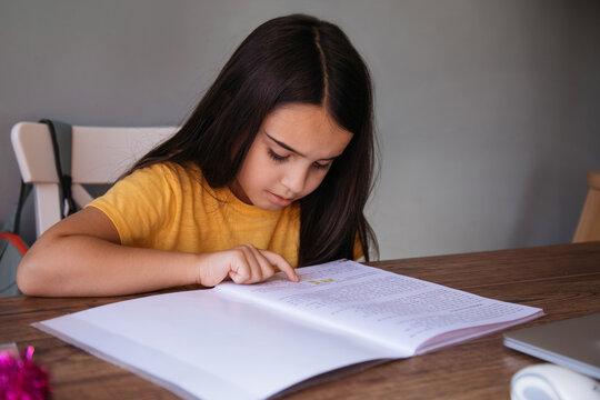 Schoolgirl Back to Online Schooling
