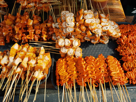Asian barbecue. Street food asia
