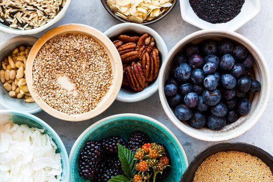 Nuts, grains and berries Superfoods