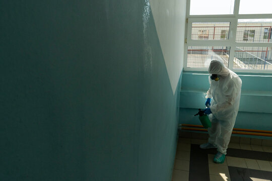 Disinfecting a corridor