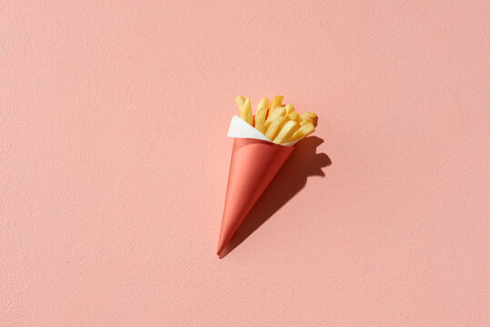 French fries in paper cornet