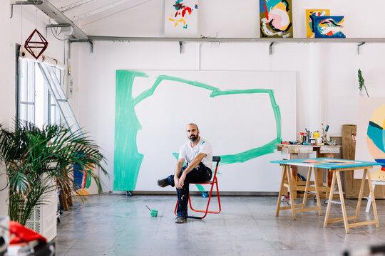An artist in his studio