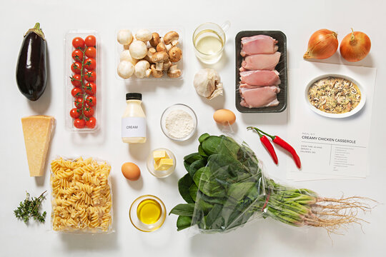 flat lay of meal kit