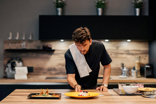 Male Chef Cooking at Home