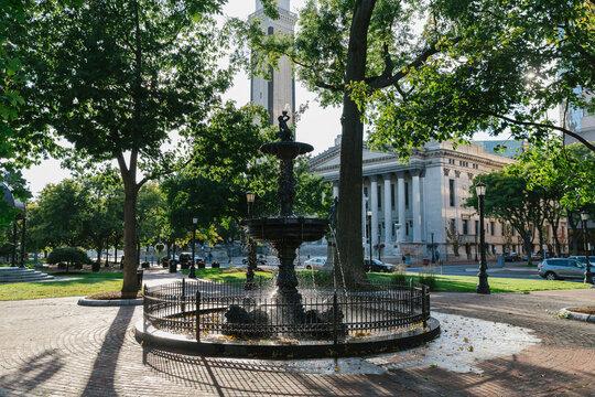 Downtown Park in Springfield Massachusetts