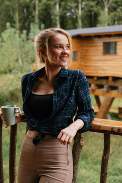 Woman in a terrace