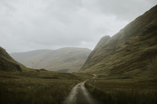 Mountain Range in Scotland