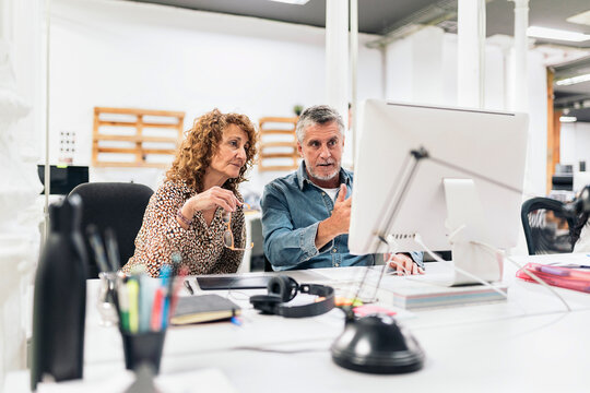 Office Workers Using computer