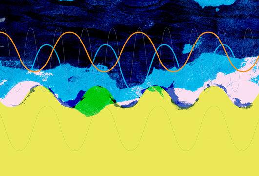 Oscillating Radio Waves