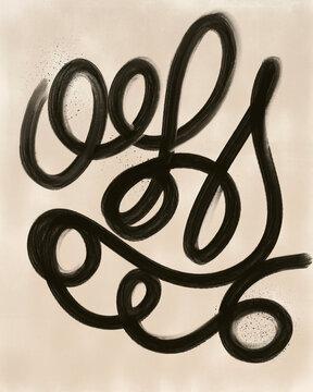 Modern Abstract Line Artwork