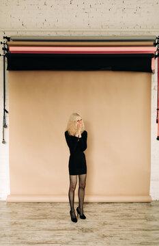 Portrait of Happy Transgender model in studio