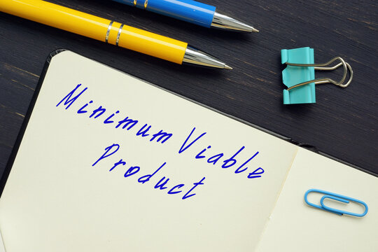 Minimum Viable Product inscription on the sheet.