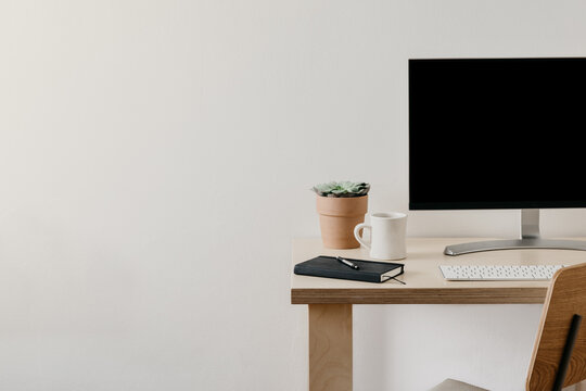 Minimal Work From Home Desk