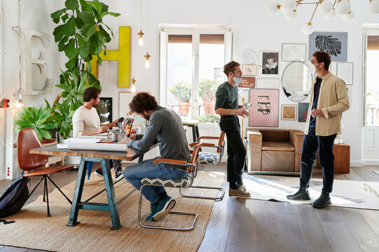 Designers at work in an office