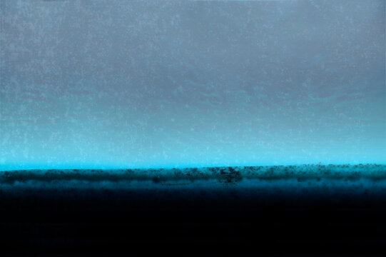 Abstract Background with Black Ink and Blue Frosty Light Effect