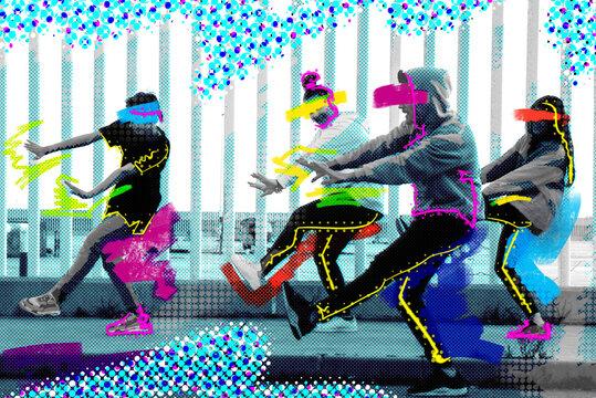 Street dance illustration.