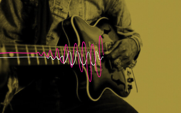 Guitar soundwave illustration