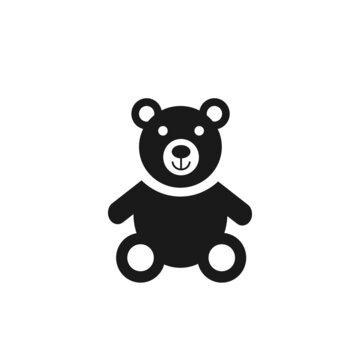 Teddy bear transparent icon. Teddy bear symbol design from Birthday and Party collection. Simple element vector illustration on transparent background.
