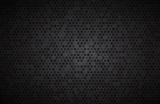 Dark widesreen background with wheels with different transparencies. Modern black geometric design. Simple vector illustration