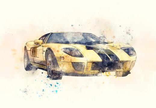 Watercolor Sketch Photo Effect
