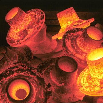 Hot forged steel parts in steel works