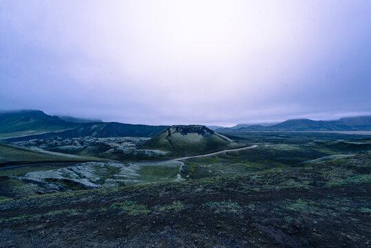 Volcano and area around it, Landmannalaugar, Iceland