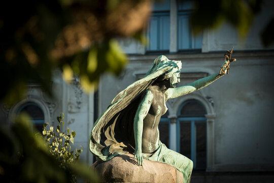 Statue, Old Town, Ljubljana, Slovenia