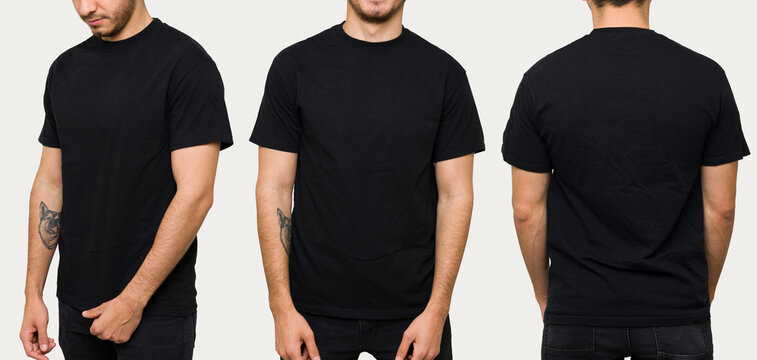 Good-looking man in a t-shirt for design print
