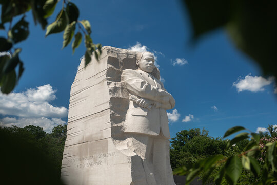 Washington, DC, USA - 29 June 2020: Martin Luther King, Jr. Memorial on a Sunny day with no People