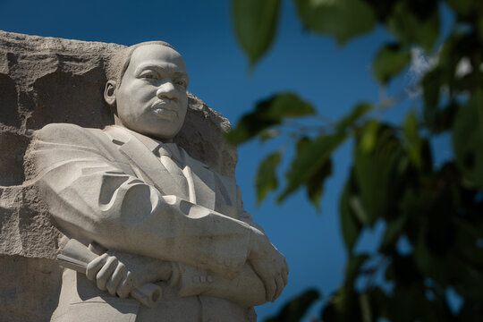 Washington, DC, USA - 29 June 2020: Close-up of the Martin Luther King, Jr. Memorial on a Sunny Day