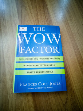 Kuala Lumpur, Malaysia - Sept 28, 2020: The wow factor book cover.