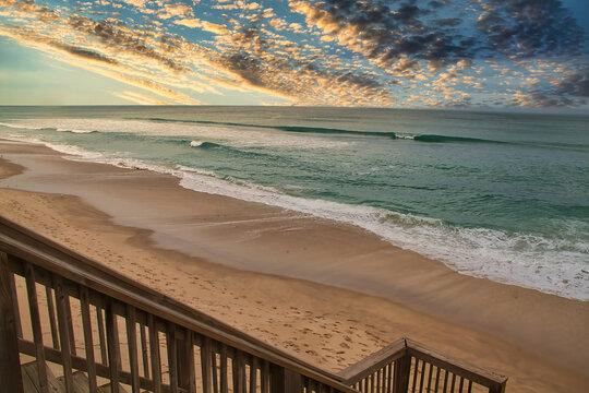 Spring storm over the Atlantic ocean in Melbourne Beach Florida