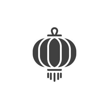 Oriental paper lantern vector icon