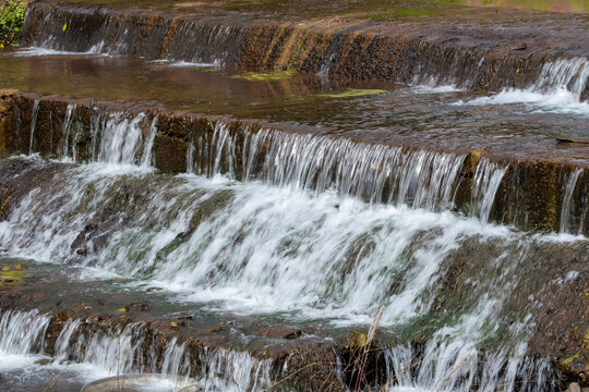 A weir on the River in Bo Kluea District, Nan Province, Thailand.