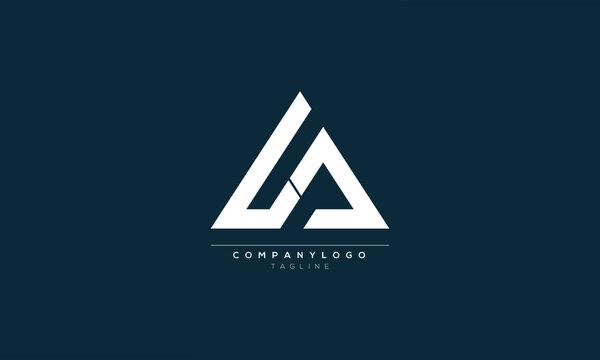 LA LC LCS Abstract initial monogram letter alphabet logo design