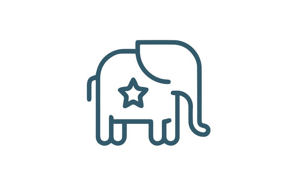 Election and Politics - Thin Line Icon