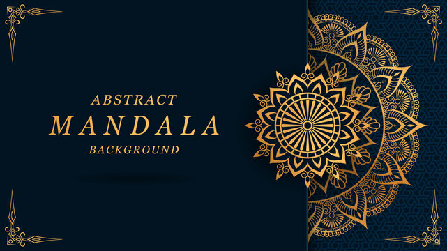 luxury mandala with gorgeous arabesque pattern style background for card, print, cover, banner, poster, brochure