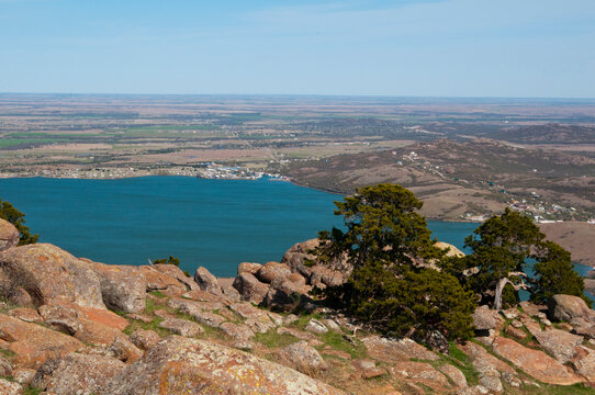 Lake Lawtonka providing water for Fort Sill and Lawton
