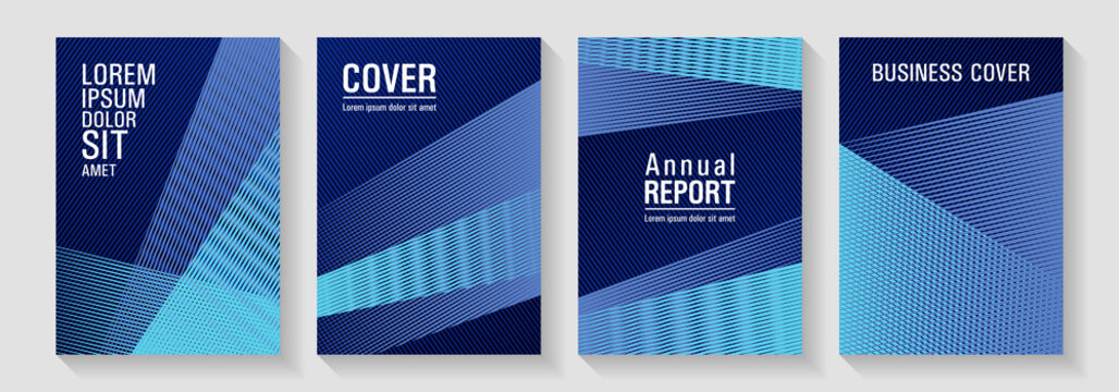 Linear geometry poster vector templates.