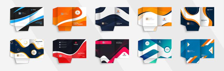 Bundle of Business Presentation Folder Template For Corporate Office - fototapety na wymiar