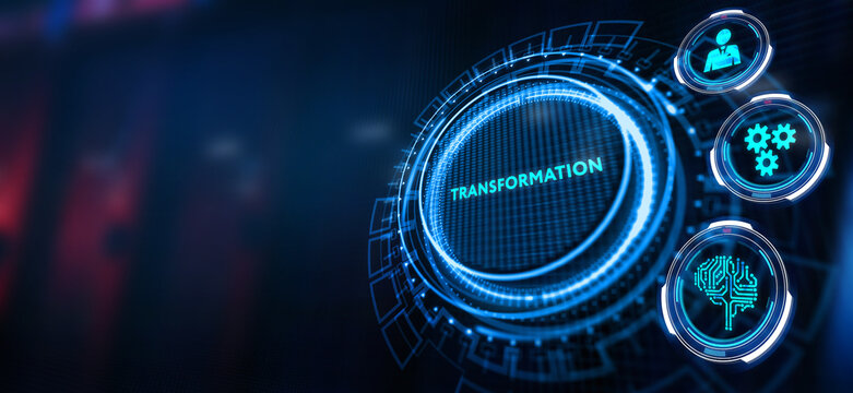 Business Transformation. Future and Innovation Internet and network concept.