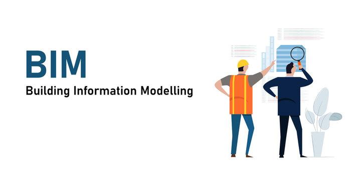 BIM building information modelling architect wearing helmet design reviewing meeting construction software