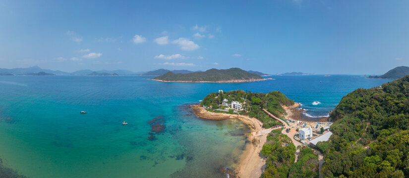 Regal residential area in coastline near Clear Water Bay, Hong Kong, outdoor, daytime