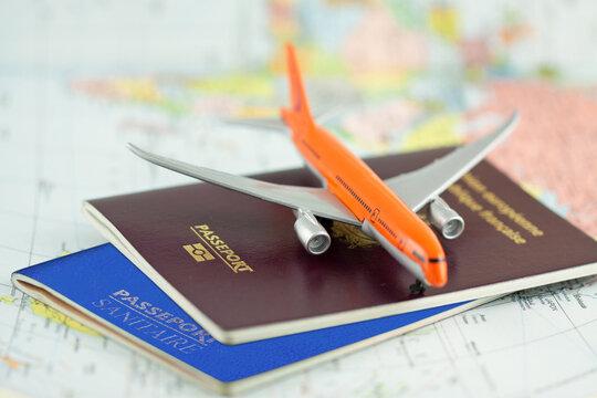 Concept voyages aériens en période de pandémie mondiale
